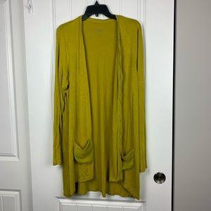 LOGO Lori Goldstein marigold color cardigan